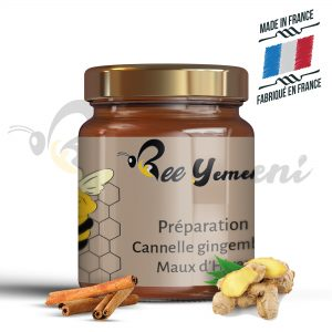 pot de miel cannelle gingembre 250gr
